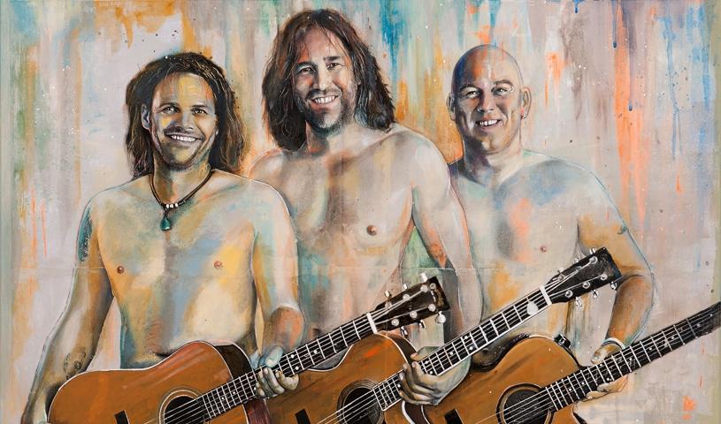 3 Männer nur mit Gitarre